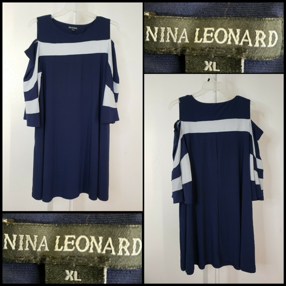 Nina Leonard Dresses & Skirts - Nina Leonard Woman New Cold Shoulder Stretch Dress